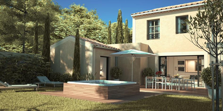 Maison neuve de 100m2 avec SPA et garage privatif à 399 000 euros